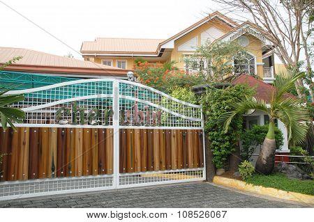 Cherubin Gardens gate in Bulacan, Philippines
