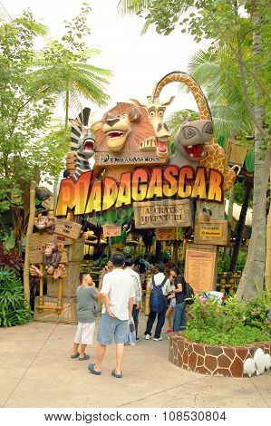Madagascar: A Crate Adventure in Universal Studios