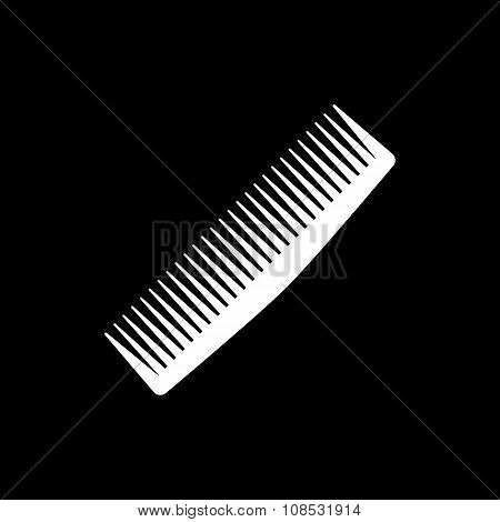 The comb icon. Barbershop symbol. Flat