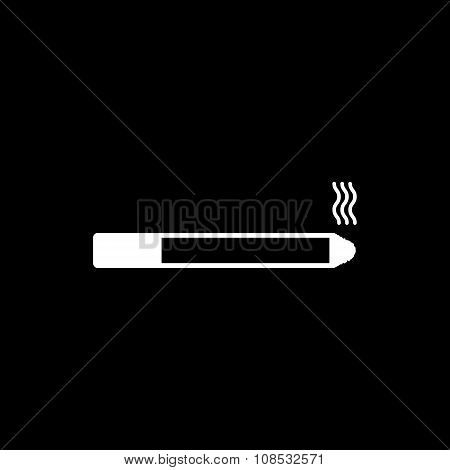 The smoking icon. Cigarette symbol. Flat