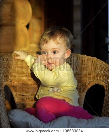 Portrait Of The Little Girl In A Chair