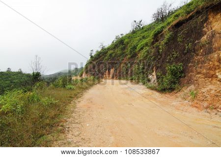 Local road to the mountain