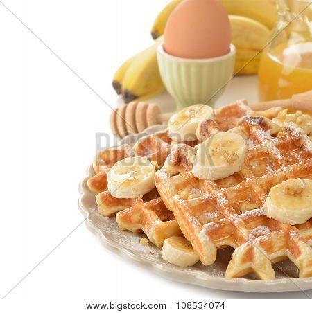 Waffles With Banana