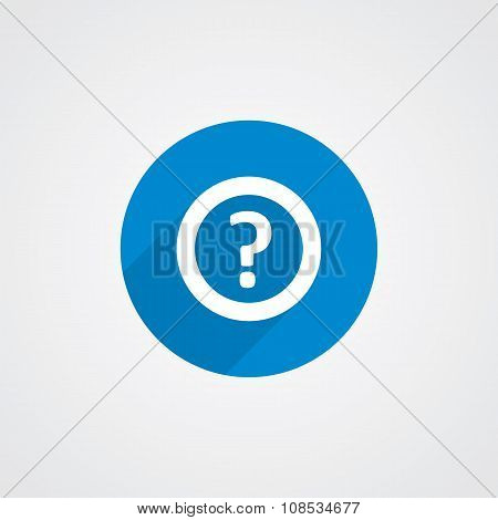 Flat Blue Help Icon