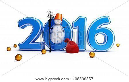 Snowmen Happy New Year 2016