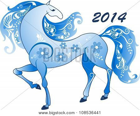 Abstract Horse, The Symbol Of 2014