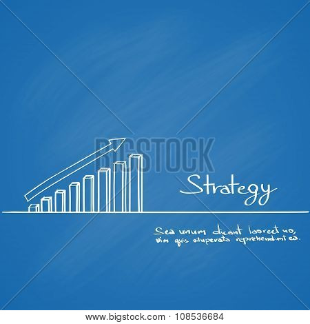 Graph Bar Sketch Hand Draw Line Icon Cover Background