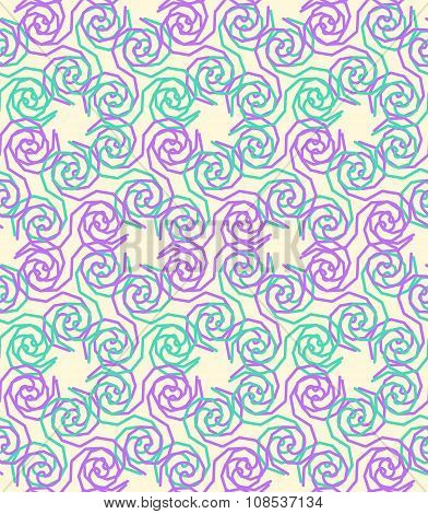 Geometric Seamless Pattern Background With Twist Line Style.
