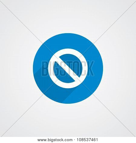Blue Flat Prohibition Icon