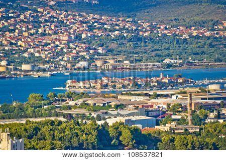 Split Suburbs Vranjic And Kastela Aerial View