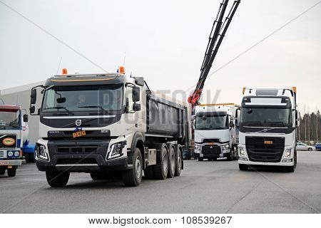 Volvo And Renault Trucks For Demo Drive