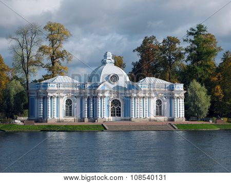 Grotto on the shore of Great Pond in Tsarskoye Selo