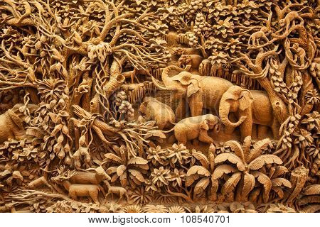 Carved Thai Elephant