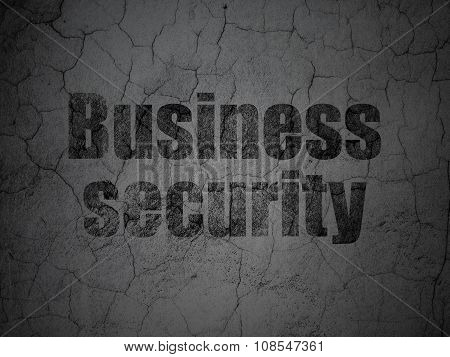 Privacy concept: Business Security on grunge wall background