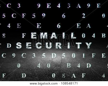 Security concept: Email Security in grunge dark room