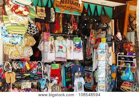 D'Mall Souvenir Shop in Boracay, Philippines