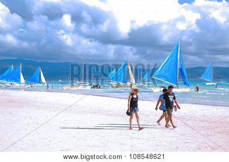 Boracay Beach in Aklan, Philippines
