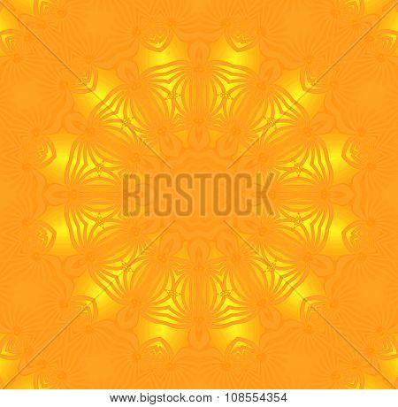 Seamless circle pattern yellow orange shiny