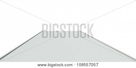 Drawn picture of bridge on white