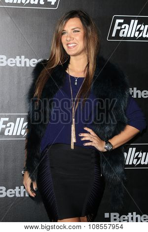 LOS ANGELES - NOV 05:  Natalie Burn at the Fallout 4 video game launch  at the downtown on November 05, 2015 in Los Angeles, CA
