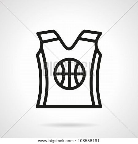 Basketball uniform black simple line vector icon