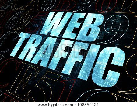 Web design concept: Web Traffic on Digital background