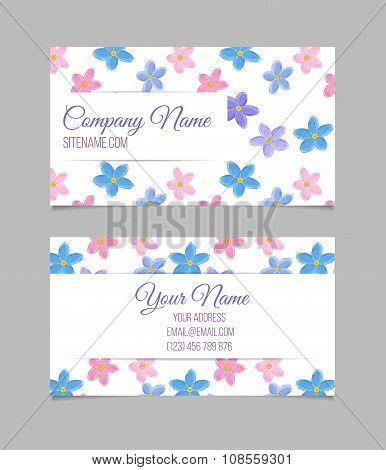 Floral card template