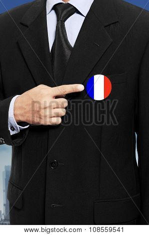 Man Show French Flag Pin