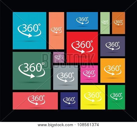 three hundred and sixty degree abstract icon