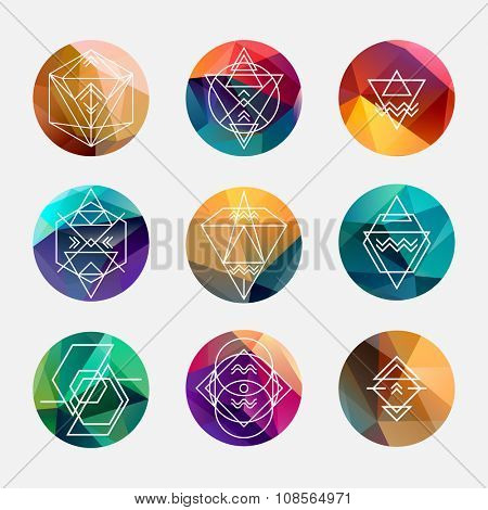 Set of abstract geometric elements