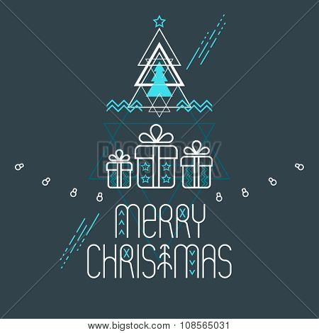 Stylized Christmas poster