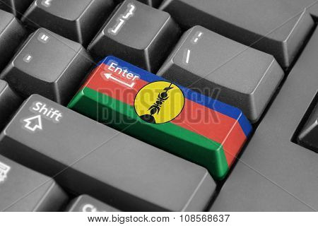 Enter Button With New Caledonia Flag