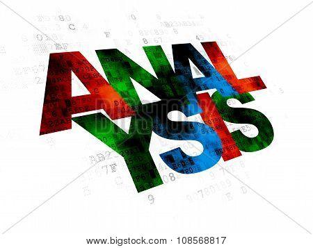 Marketing concept: Analysis on Digital background