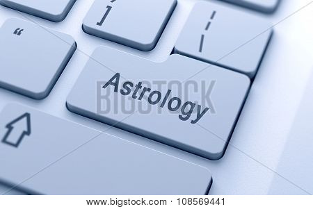 Astrology Word Button On Computer Keyboard