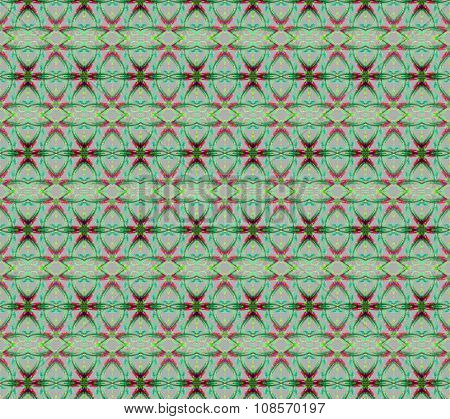 Seamless ellipses pattern green red