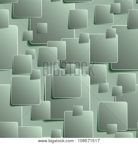 Green seamless background of squares