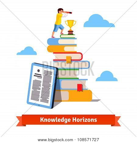 Standing on knowledge concept