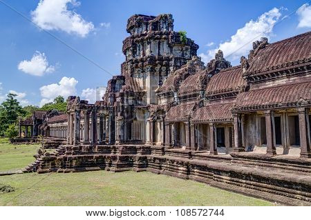 Outer Gallery Of The Angkor Wat  Complex