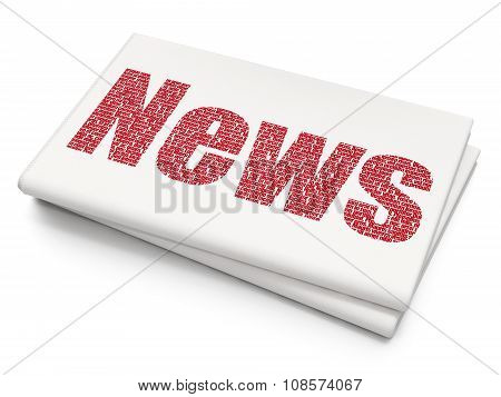 News concept: News on Blank Newspaper background