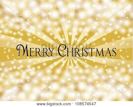 Golden Shiny Merry Christmas Background