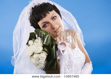 One Happy And Beautiful  Bride
