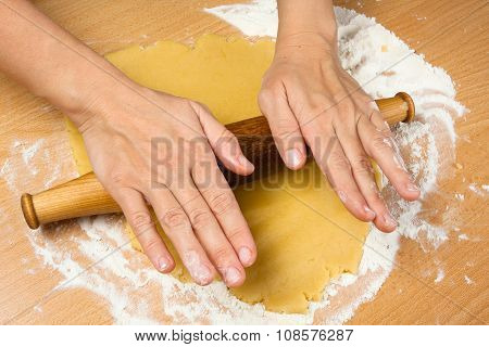 Hand Rolling Dough For Cookies