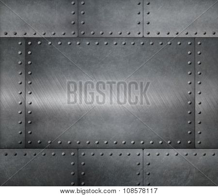 metal steel plates armour background