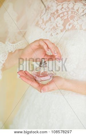 Bride Applying Perfume
