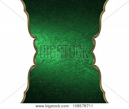 Green Nameplate Isolated White Background. Element For Design. Template For Design. Copy Space For A