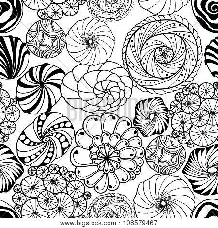 Abstract wavy seamless pattern
