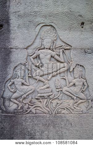 Bas-reliefs In Prasat Bayon  Complex