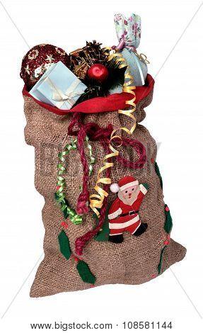 Bag With Gifts Santa Claus