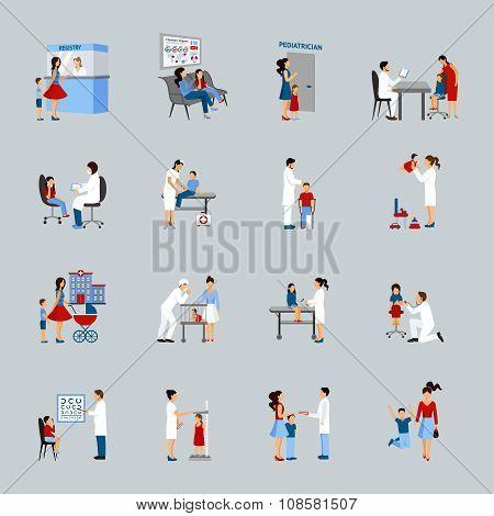 Children Doctor Pediatrician Set