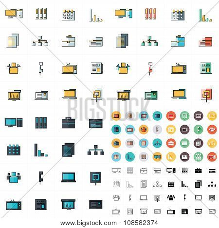 Office Icons Set 7 Styles